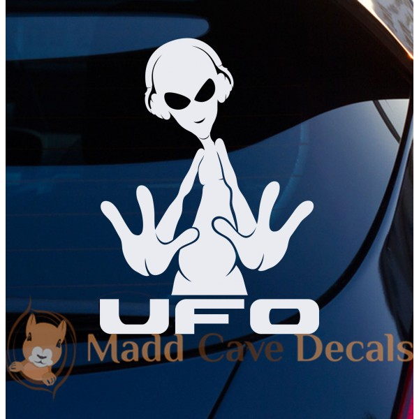 Aliens UFO Decal