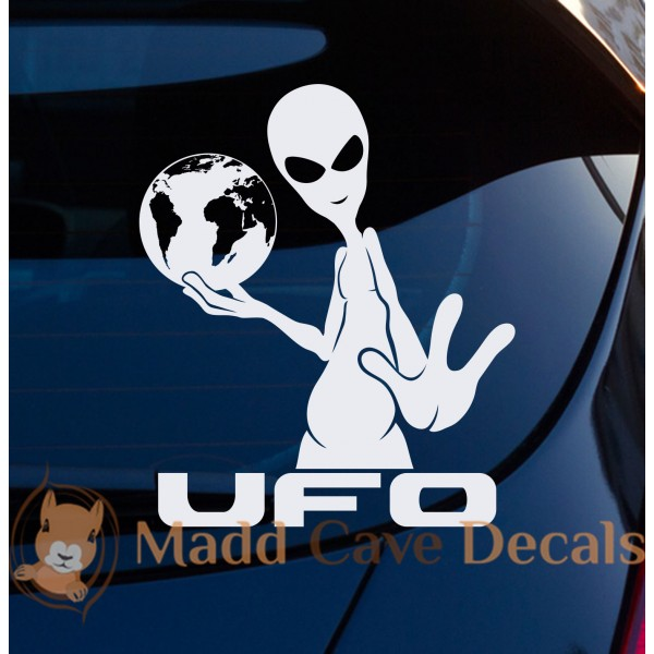 Aliens UFO World Decal