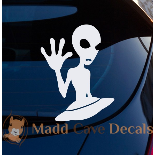 Aliens Flying Saucer Decal