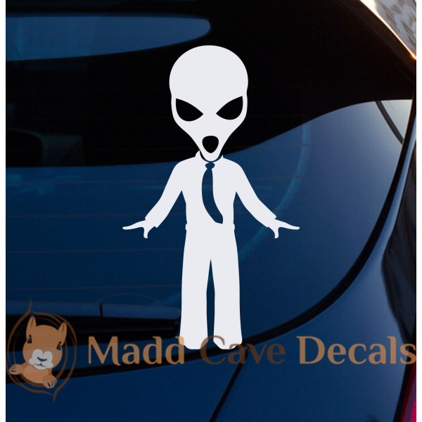 Alien Tie Decal