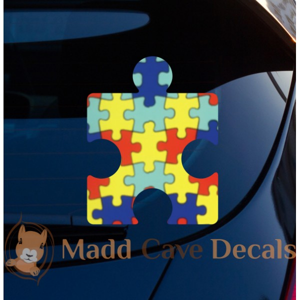 Autism Puzzle Piece Decal