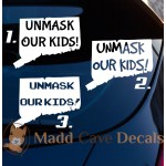 Unmask Our Kids Connecticut Decal - Unmask Our Kids CT Decal