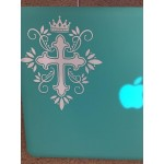 Cross Crown King Christian Decal Car Laptop Graphic Sticker Window