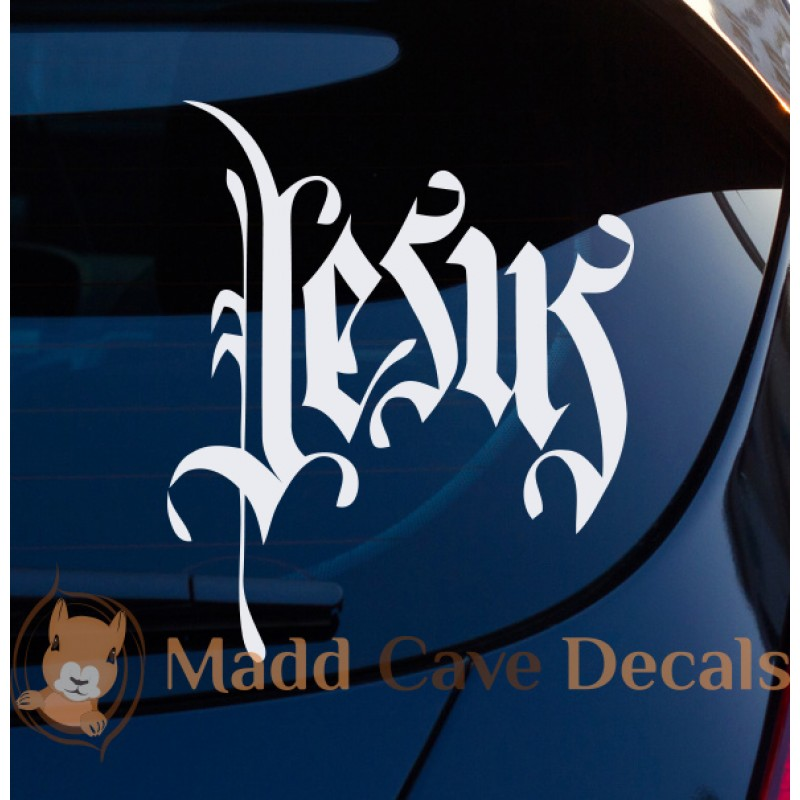 Jesus vinyl decal