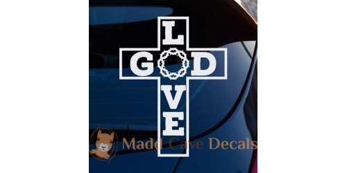 Christian Cross Decals