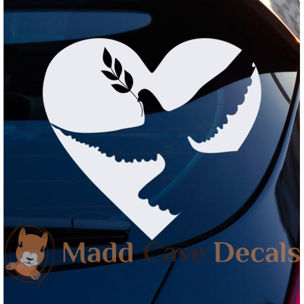 Dove & Olive Branch Decal