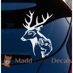 Deer Fish Hunting Fishing Decal