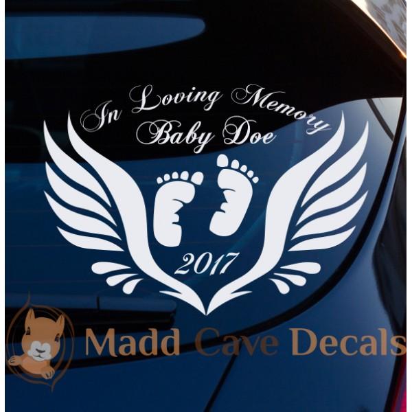 Baby Memorial Decal In Loving Memory Of Gift Car Window Laptop