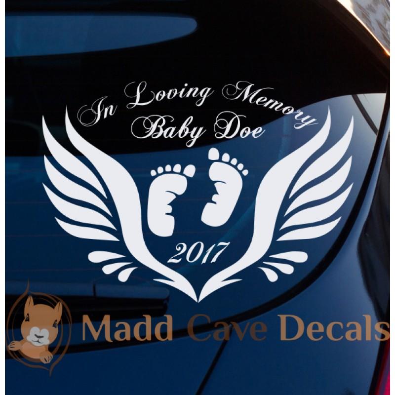 Medic In Loving Memory Car Decal Window Sticker