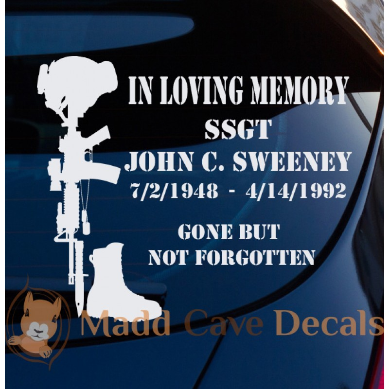 Soldiers Cross Memorial Decal