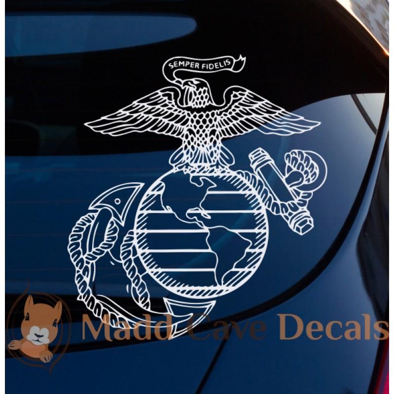 9af780d2f United States Marines Eagle Globe Anchor Emblem Decal