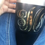 Gold Foil Monogram Vinyl Decal