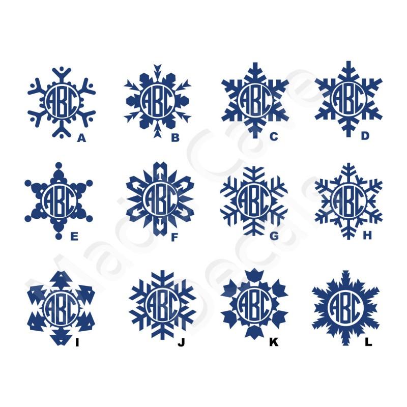 Snowflake Monogram Decal