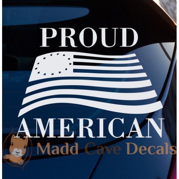 Proud American Flag Decal