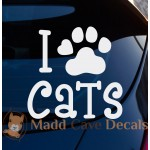 I Love Cats Decal