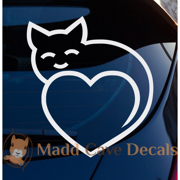 Cats Tail Heart Decal