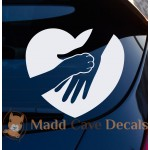 Paw Print Heart Decal - Dogs & Cats