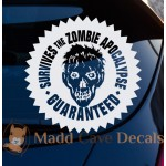 Survives The Zombie Apocalypse Guaranteed Decal