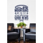 Christian Wall Decal - Who Publishes Peace - Isaiah 52:7
