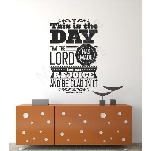 Let Us Rejoice Psalm 118:24 Wall Decal