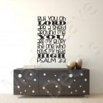 Christian Wall Decal - Shield Around Me Psalm 3:3