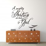 Christian Wall Decal - A Mighty Fortress Is Our God