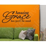 Amazing Grace How Sweet The Sound Christian Wall Decal