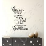 Christian Wall Decal - Christ Is The Center Of Our Home