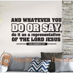 Colossians 3:17 Whatever You Do Or Say - Christian Wall Decal