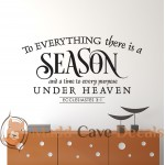 Ecclesiastes 3:1 To Everything There Is A Season - Christian Wall Decal
