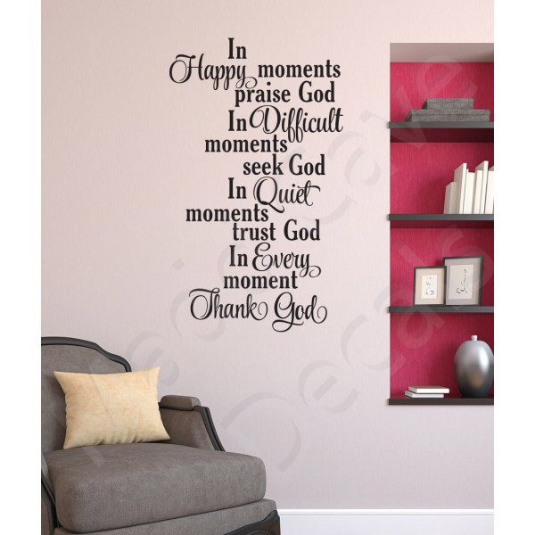 Christian Wall Decal - In Every Moment Thank God
