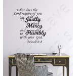 Christian Wall Decal - Humbly With Your God Micah 6:8