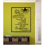 Christian Wall Decal - Let Your Roots Grow Down
