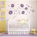 Flower Wall Decals 2 - Multiple Sizes