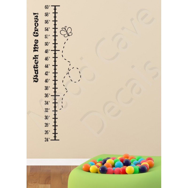 Growth Chart Wall Decal Butterfly