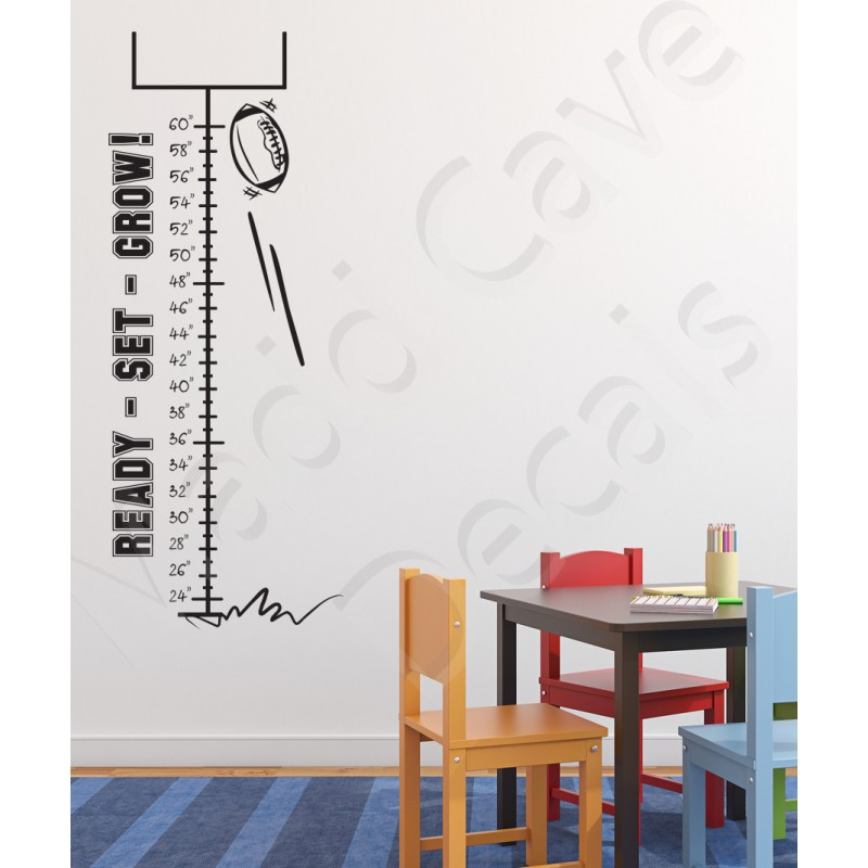 Growth Chart Wall Decal Football