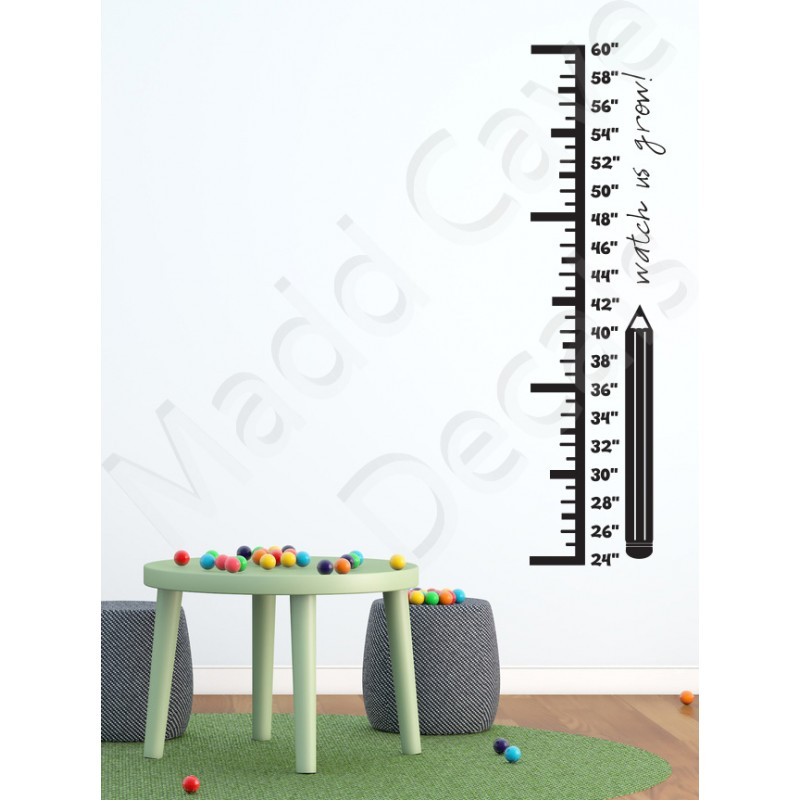 Growth Chart Wall Decal Pencil
