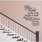 Christian Wall Decal - His Love Endures