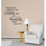 Christian Wall Decal - Fearfully Wonderfully Made