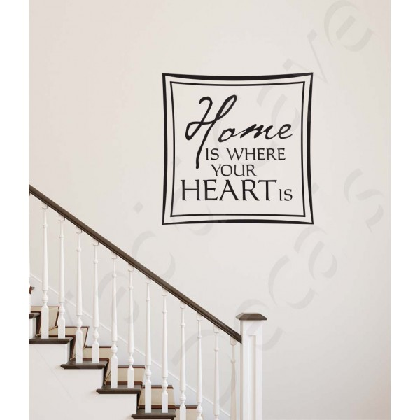 Wall Decal - Home Is Where Your Heart Is