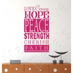 Wall Decal - Love Courage Hope Peace