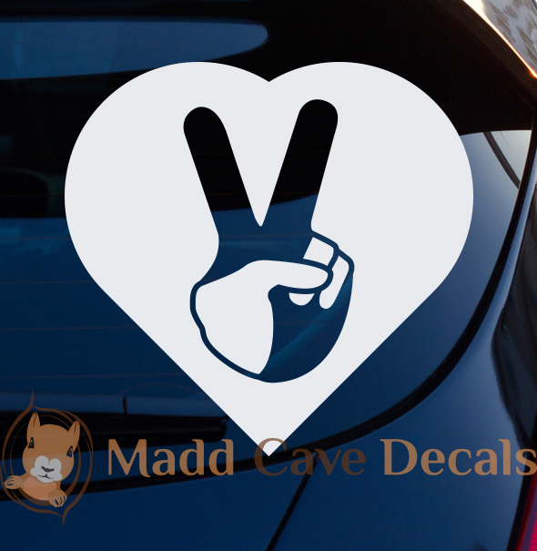 Peace Sign Heart Decal