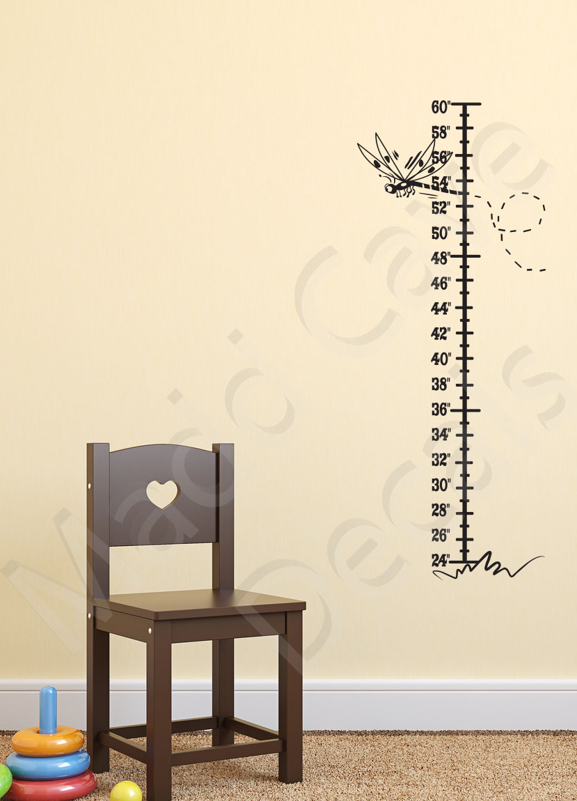 Growth Chart Wall Decal Dragonfly